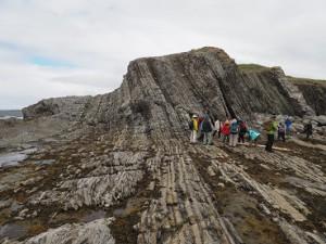 1歩、1万年くらいの地層を見ることができる、地質学的に稀有な場所、グリーンポイント